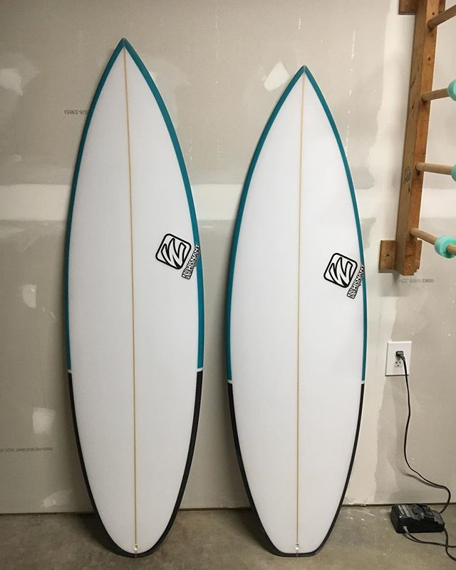 """Just finished these two beauties for Eric. 5'6"""" groveler and 5'9"""" stepup"""